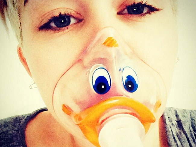 Miley Hospitalised