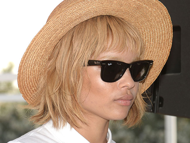 Zoe Kravitz Goes Blonde