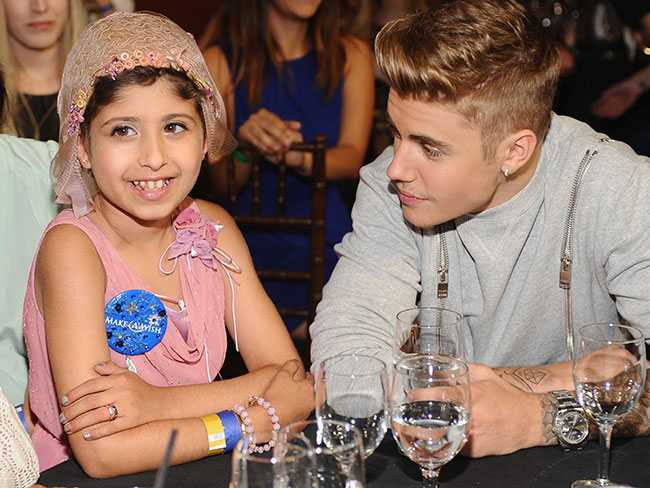 Justin Bieber takes fan as date to Young Hollywood Awards