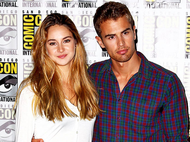 Behold! First pics of Theo James and Shailene Woodley filming Insurgent'