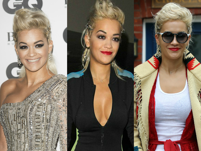 Rita Ora wears her GQ hair for third day in a row