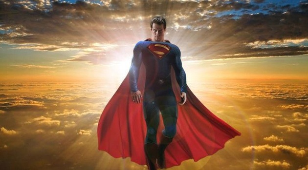 New Man Of Steel Video Flies In