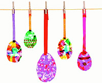 Easter Craft: paper eggs