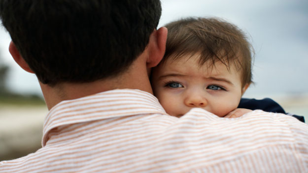One in 10 dads get the baby blues