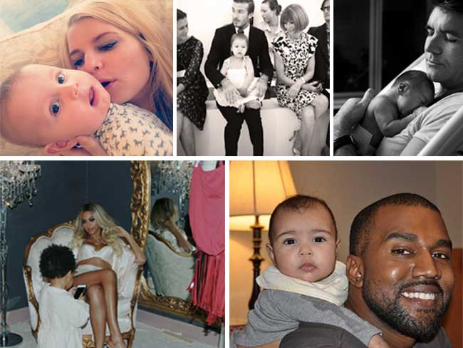 Celebrity baby photos on Instagram, Twitter and Facebook