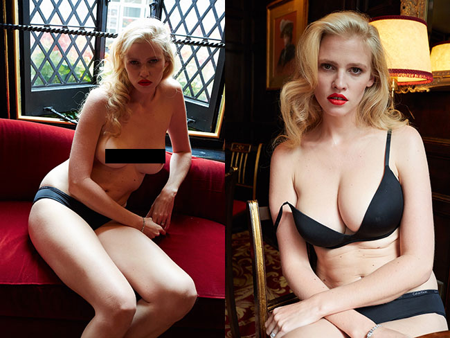 Lara Stone's unretouched post-pregnancy shoot