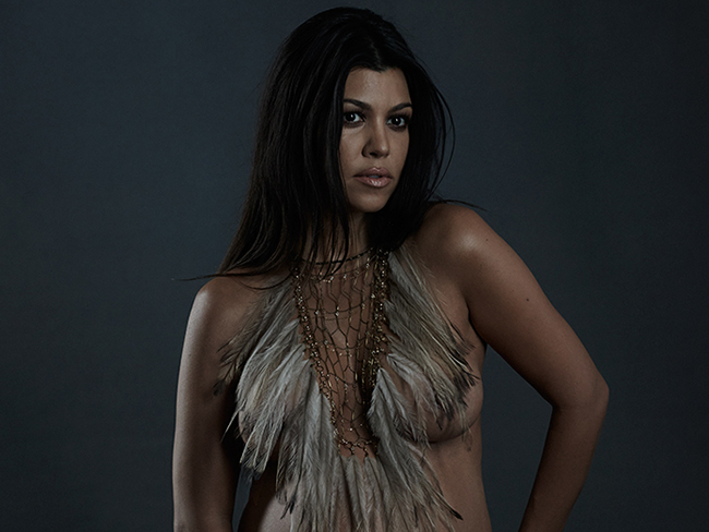 Kourtney Kardashian's naked pregnancy photos