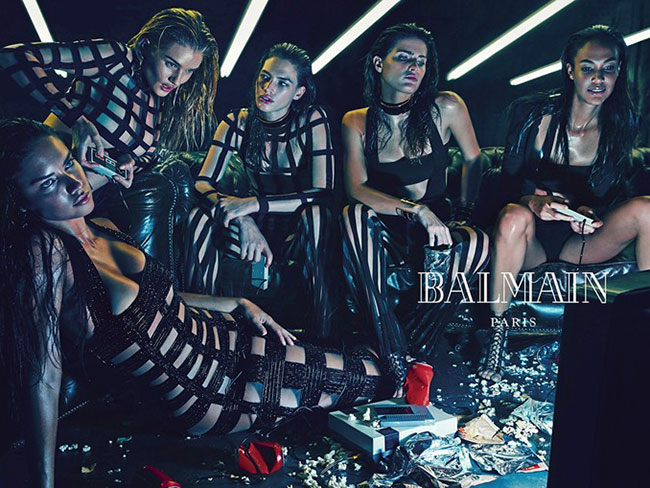 Supermodels star in Balmain's SS15 campaign