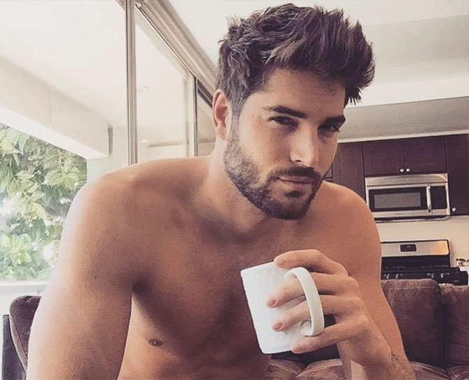 Hot men + coffee = winner