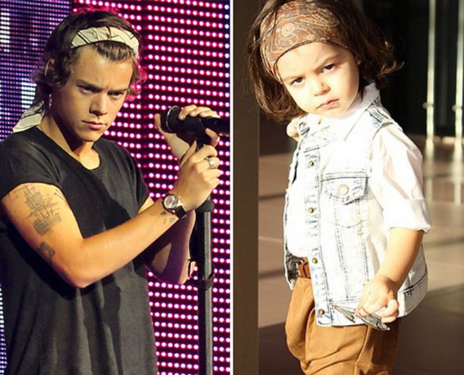 There's a child on Instagram who's a miniature version of Harry Styles