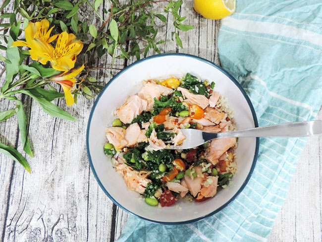 Make a super healthy superfood salmon meal in 3 minutes flat