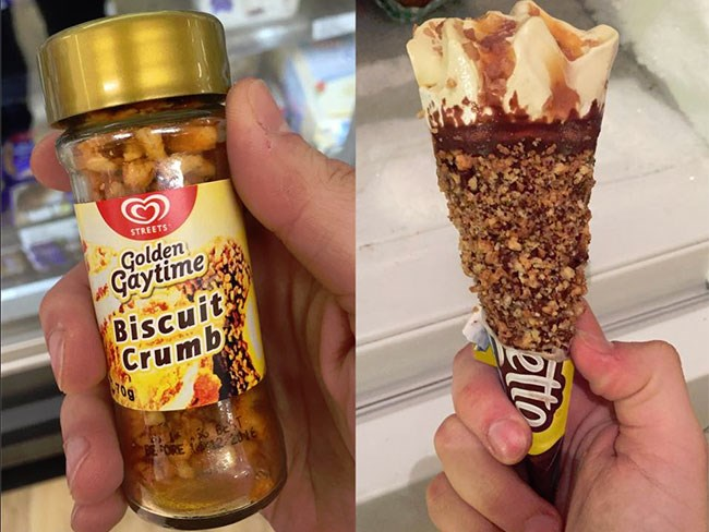 'Golden Gaytime Guy' campaigns for biscuit sprinkle and a Gaytime Cornetto