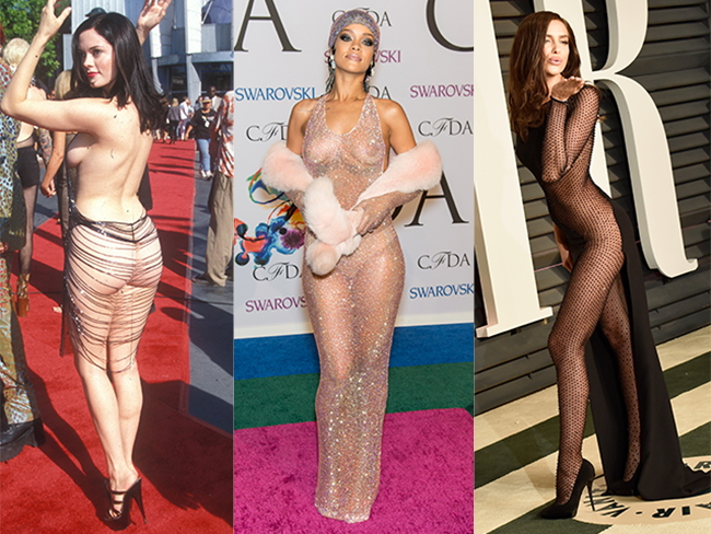 18 times celebrities hit the red carpet wearing little more than underwear
