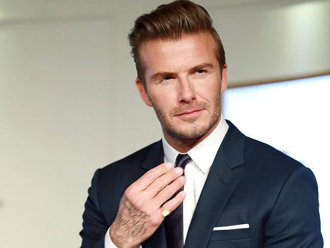 David Beckham through the ages