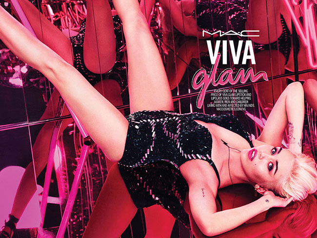 Miley Cyrus is the face of Mac's Viva Glam range