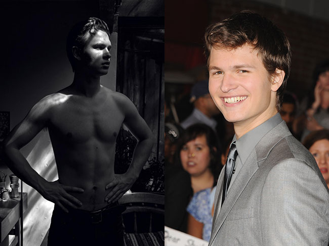 Ansel Elgort posed shirtless for Hero magazine