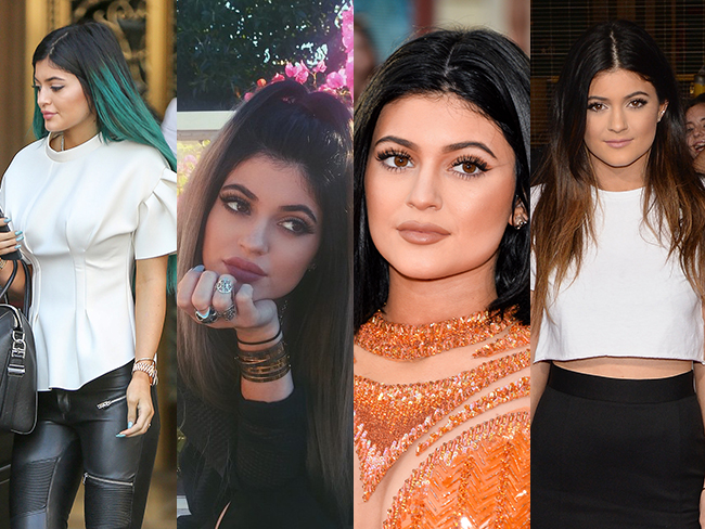 Kylie Jenner's hair transformation
