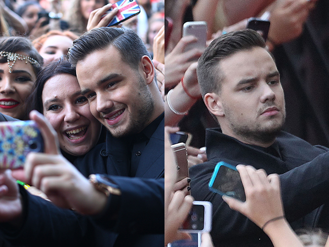 "Liam Payne defends his ""fake"" smile selfies"