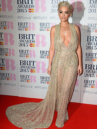 Rita's BRIT Awards gown