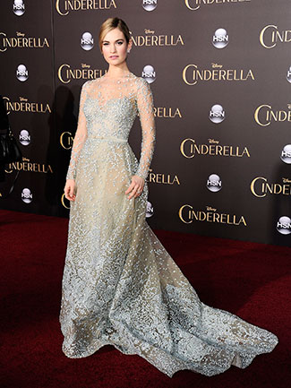 Her silver Elie Saab gown