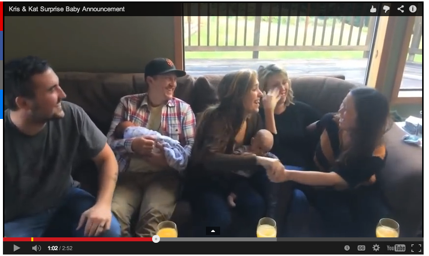 Viral video pregnancy announcement