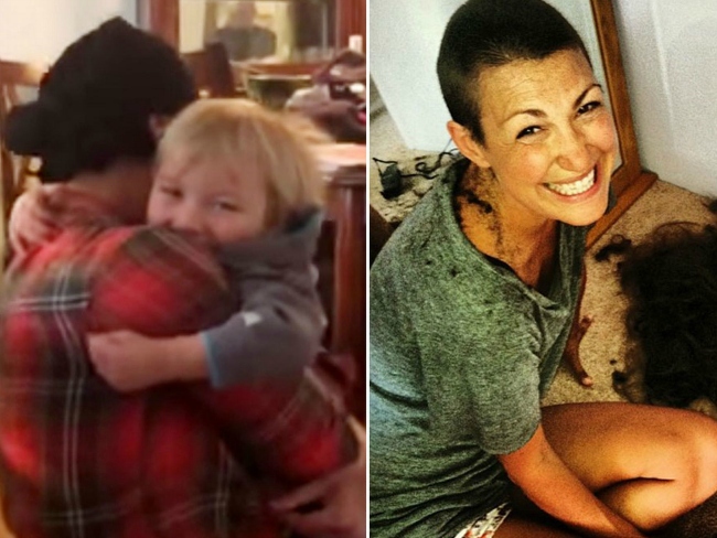Toddler reunites with mum after chemo