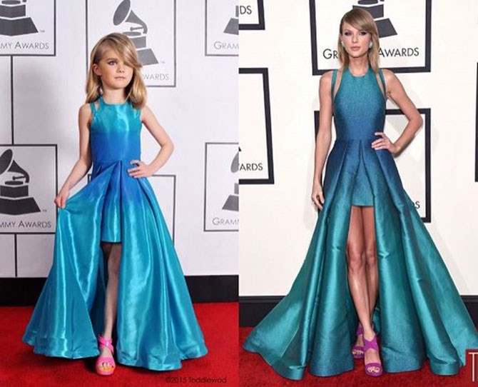Kids dressed as Grammy stars