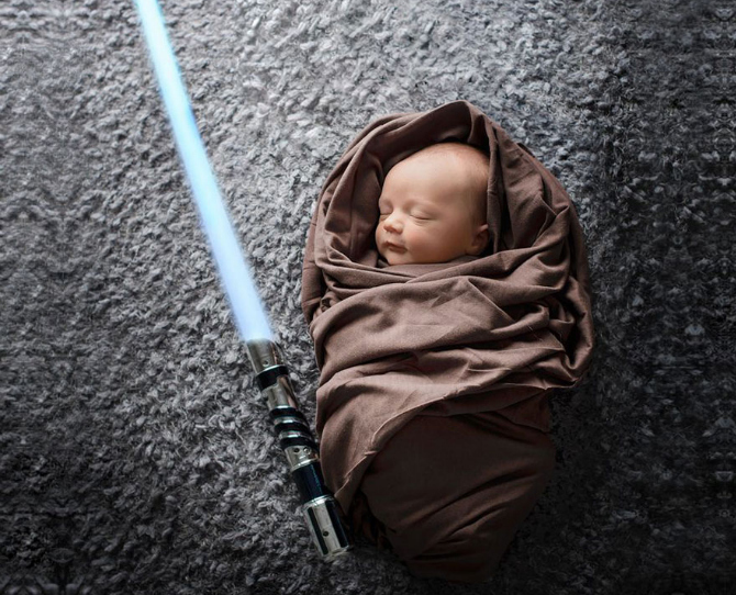 Geeky Newborn Photography Trend