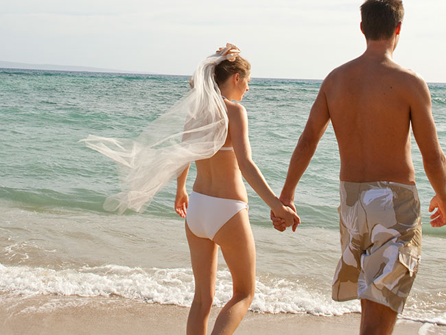 And the bride wore…a bikini