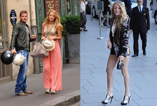 Blake Lively and Leighton Meester in Paris (Getty Images)