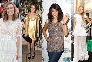 Elizabeth Olsen, Emma Roberts, Selena Gomez and Blake