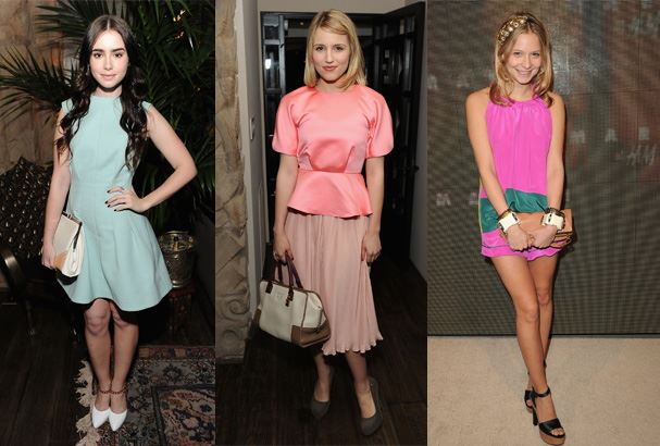 Dianna Agron, Lily Collins and Annabelle Dexter Jones.