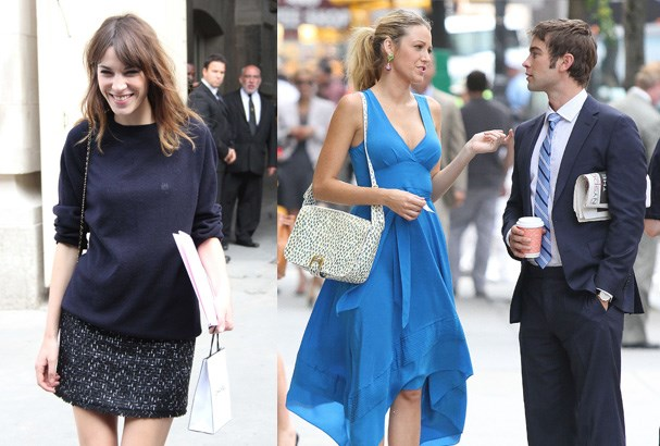 Alexa Chung, Blake Lively and Chace Crawford.