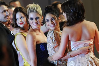 Selena Gomez, Vanessa Hudgens and Ashley Benson (getty)