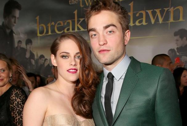 Robert Pattinson and Kristen Stewart reunite at the premiere.