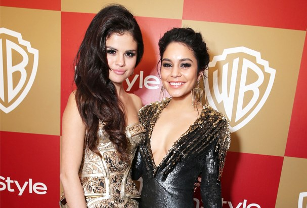 Vanessa and Selena at the InStyle Golden Globes party.