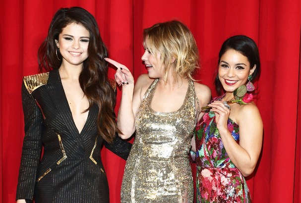Selena Gomez, Vanessa Hudgens and Ashley Benson Spring Breakers premiere