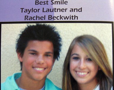 Taylor Lautner's school year book