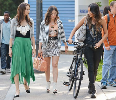 Take a peek at what makes Aria, Spencer, Emily and Hanna so different in the style stakes and how to steal style tricks from each of the *Pretty Little Liars* characters.