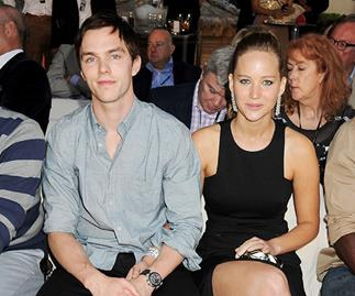 Jennifer Lawrence looking at houses in London with Nicholas Hoult