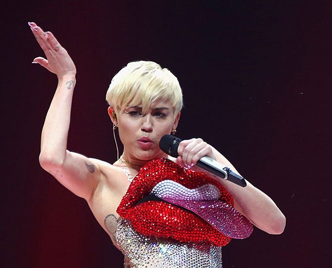 "Miley Cyrus: Toilet Scrubber    ""I had one normal job and I actually liked it,"" said Miley. ""I worked at this place called Sparkles Cleaning Service and I cleaned houses. I was, like, 11 ... I can scrub a toilet."" Hmm we dunno, it all sounds a wee bit illegal for a tiny 11 year old."