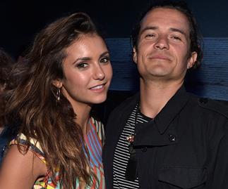 Orlando Bloom and Nina Dobrev made out at Comic Con party