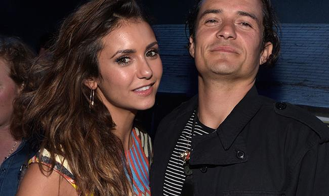 Orlando Bloom and Nina Dobrev made out at Comic Con party