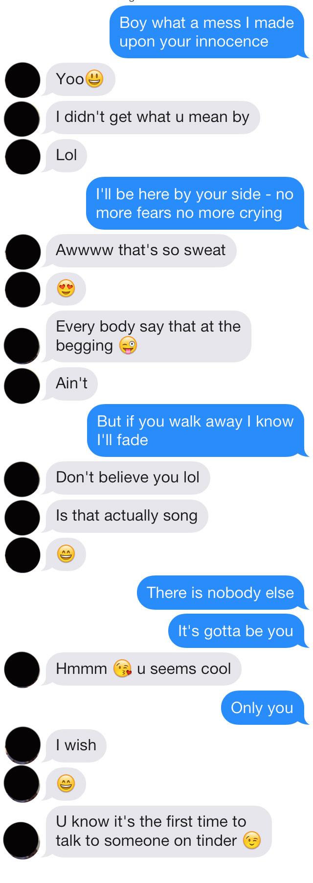 Emoji pick up lines