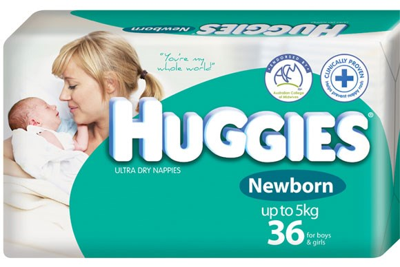 ***DISPOSABLE NAPPY (0-3 YEARS) OF THE YEAR***  Gold: Huggies nappies