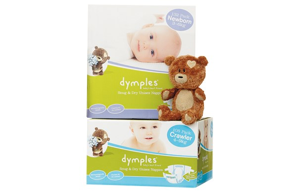 ***DISPOSABLE NAPPY (0-3 YEARS) OF THE YEAR***  Silver: Dymples Snug & Dry Unisex nappies