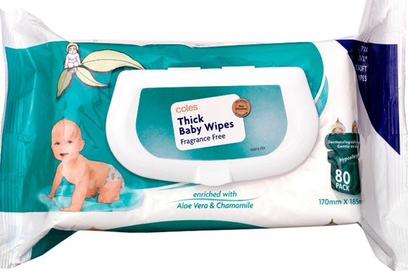 ***BABY WIPES OF THE YEAR***  Gold: Coles Brand Thick Baby Wipes Fragrance Free