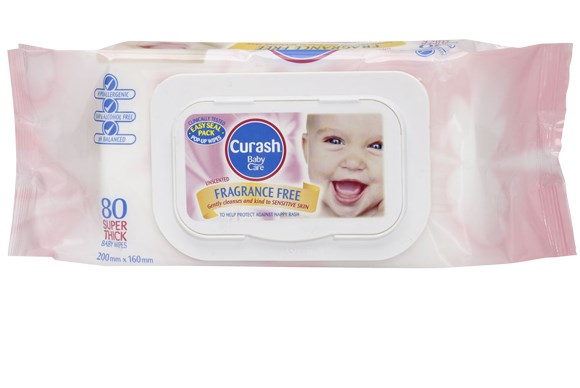 ***BABY WIPES OF THE YEAR***  Bronze: Curash Fragrance Free Wipes