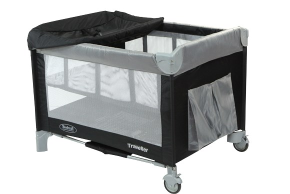 ***TRAVEL COT OF THE YEAR***  Silver: Steelcraft Traveller 4 in 1 Portable Cot