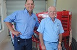 Jason Atkins, general manager of Neil's Parts with Ron Clancy of Clancy's Parts after negotiating an amicable deal of buying the Toowoomba based business.